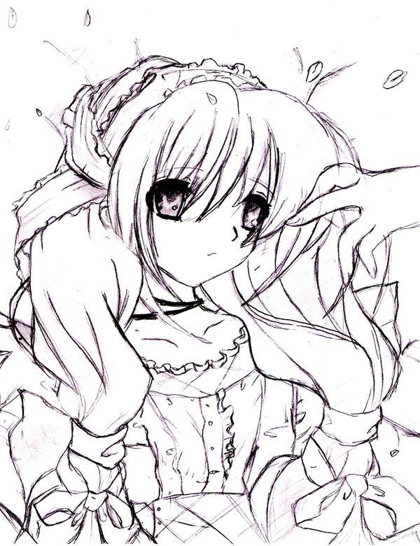 600x780 Drawn Alice In Wonderland Anime