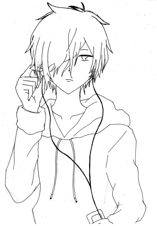 744x1073 Drawn Anime Line Drawing