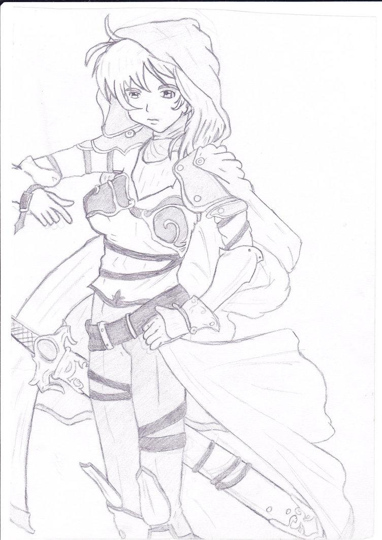 752x1063 New Anime Warrior Tattoo Drawing Photo