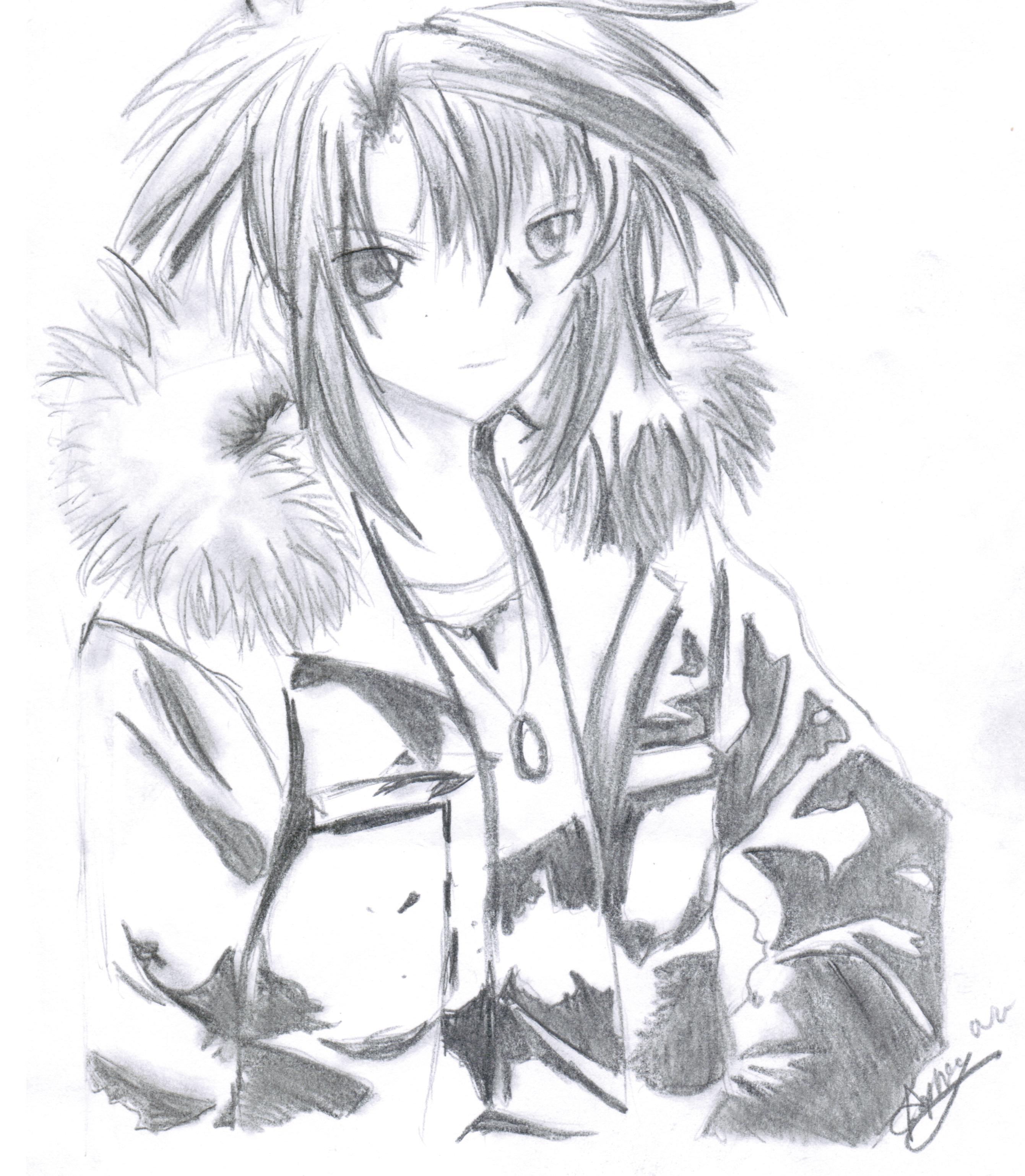 2681x3076 Anime Boy In Fur Jacket By Mangafox23