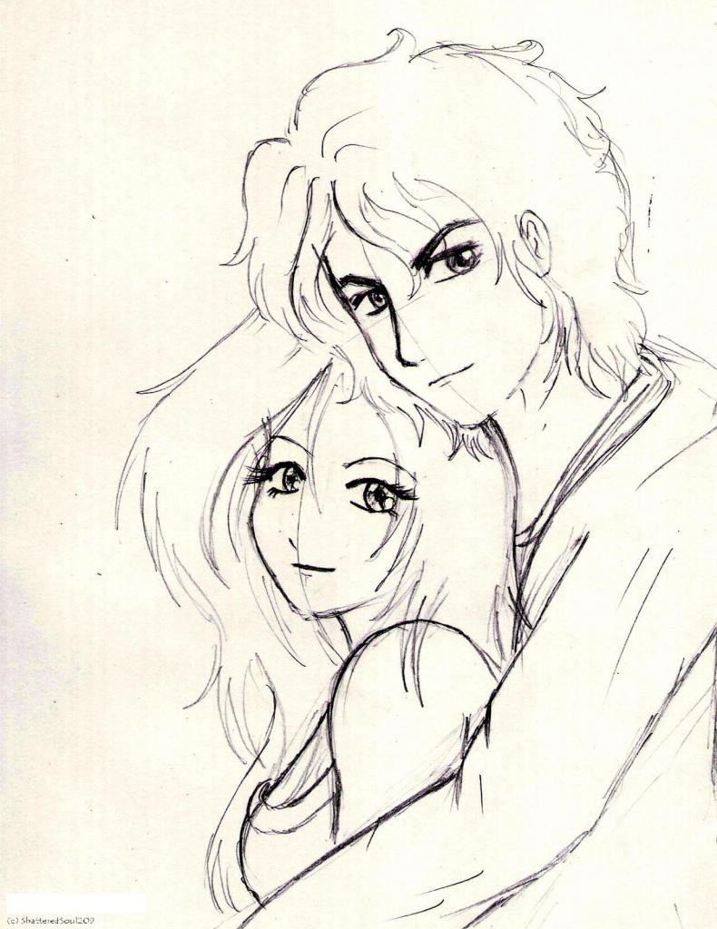790x1024 Romantic Anime Drawings Anime Romantic Pencil Sketch