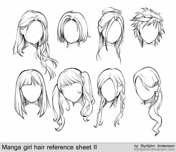 564x485 Hairstyles, Female, Girl, Text How To Draw Mangaanime I Like