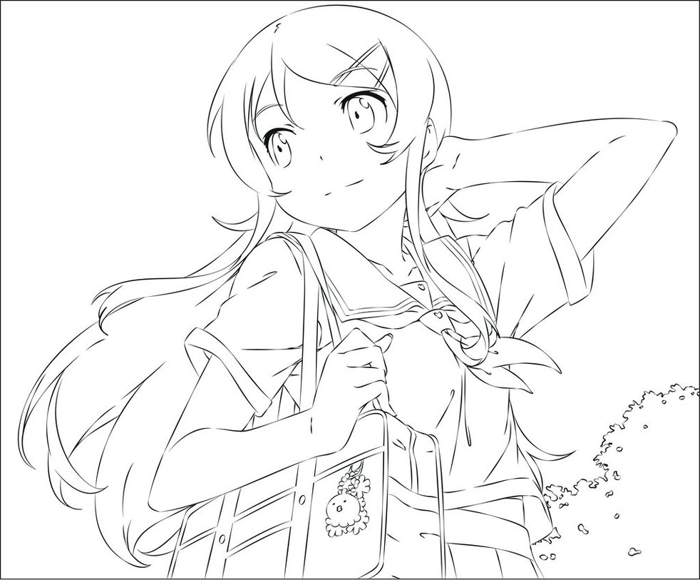 982x813 Anime Outline Drawing