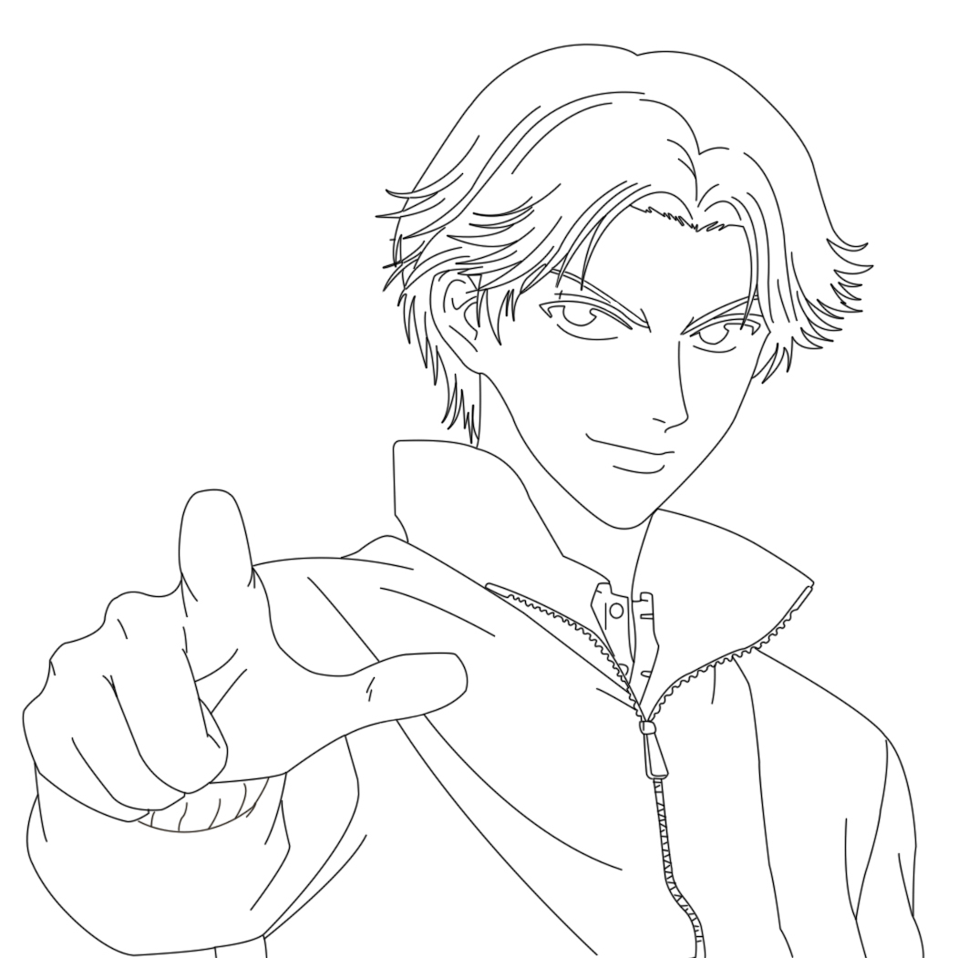 1074x1051 Anime Outline Drawing Atobe Drawing Project Outlineadult Swim Fan