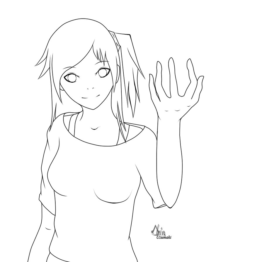 894x894 Fire Girl Outlines By Lin Uzumaki