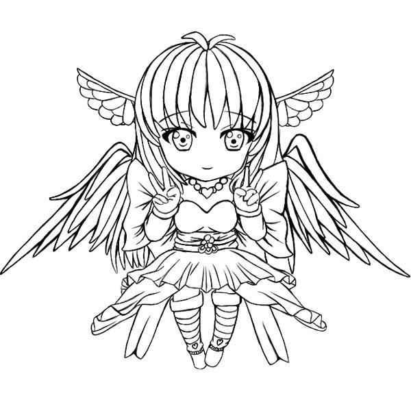 600x600 Angel Izka Outline By Denki89