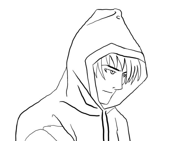 702x575 Manga Boy Free Outline By Blacklightning95