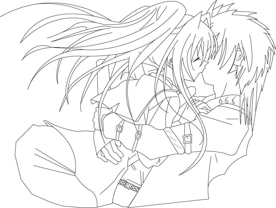 900x680 Manga Couple Digital Outline By Prince76gfhy