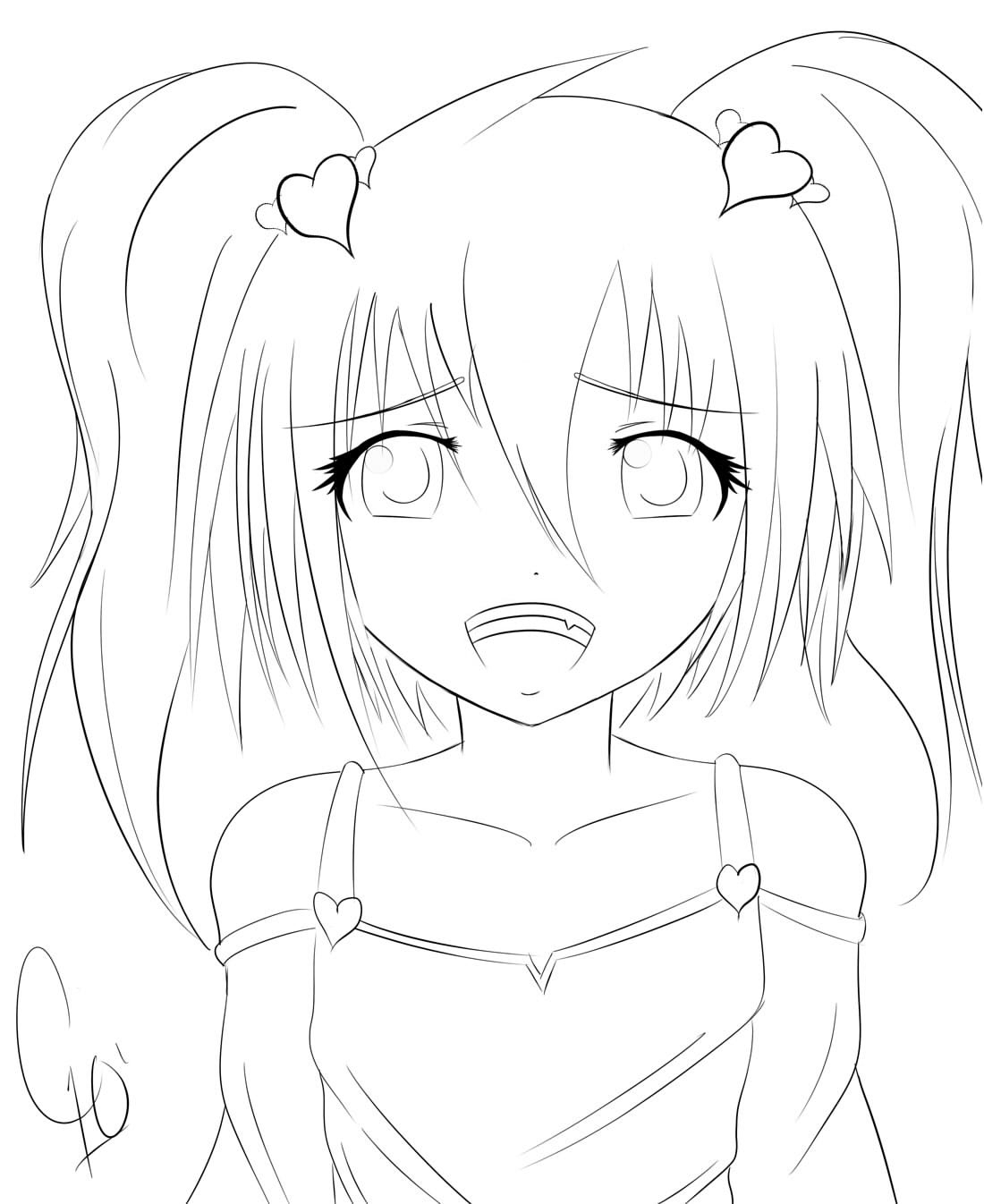 1100x1346 Pencil Drawn Anime Characters Body Outline Pencil Drawn Anime