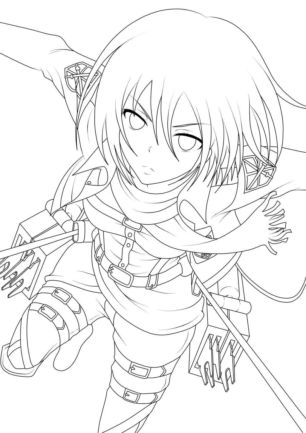 Anime Drawing Outlines at GetDrawings.com | Free for personal use ...