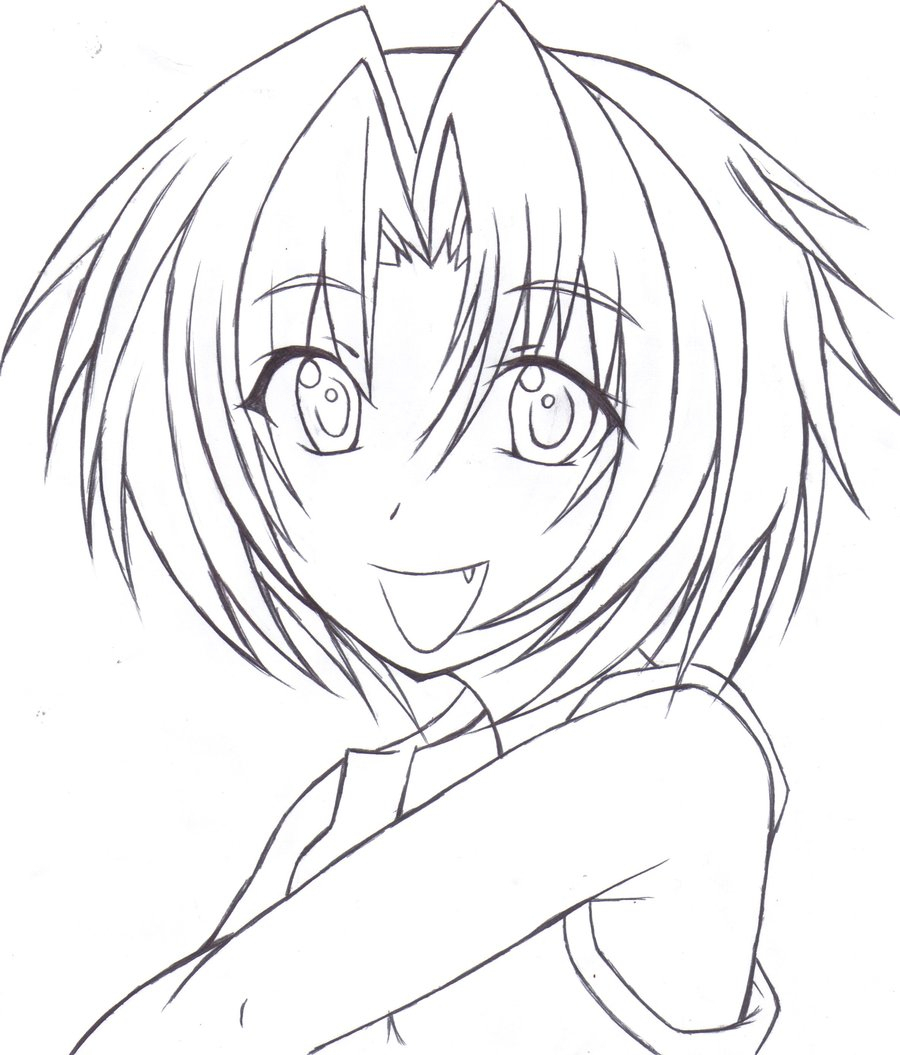 900x1055 Anime Drawing Outline Drawing Outlineknightrose3