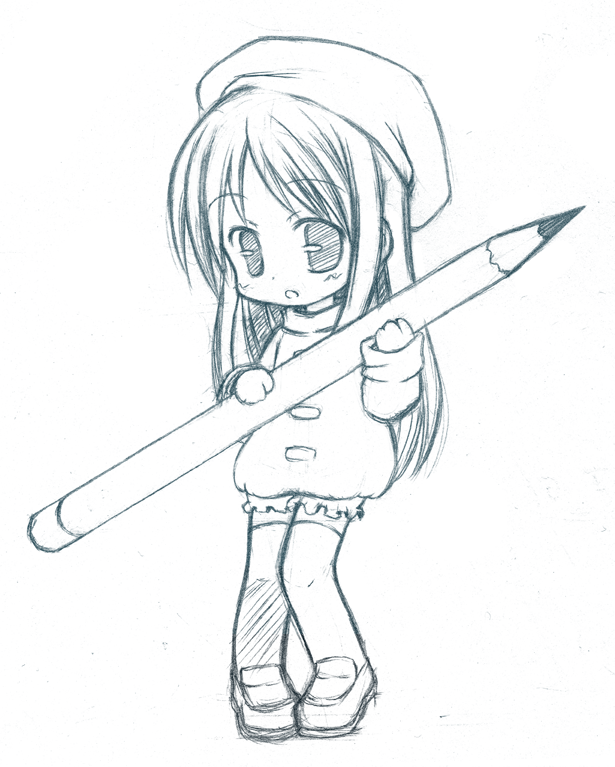 615x767 chibi pencil cleared by catplus on deviantart
