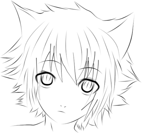 503x465 Neko Boy Photoshop Lineart D By Voctavian85 Guys