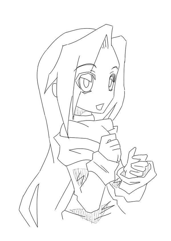 600x846 Anime Girl 2 Lineart By Misterdoodoo On Line Art