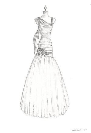300x440 Anime Wedding Dress Drawing Wedding Dress By Suzumisakuma, Manga