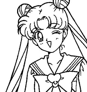 300x315 Draw Sailor Moon How To Draw Sailor Moon Characters Sailor