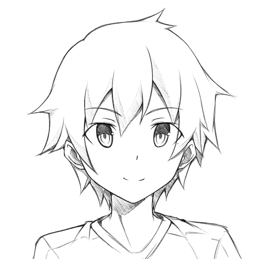 1024x1024 Anime Boy Pictures Easy To Draw Draw Anime Boy Face Easy Drawing