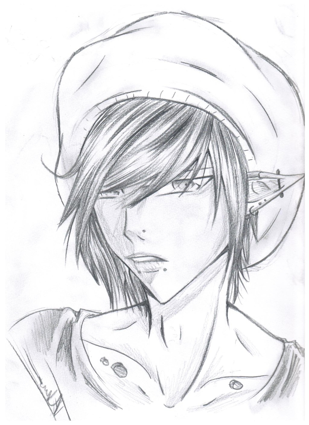 1024x1408 Black And White Emo Boy Drawing Anime Easy To Draw Boy Anime Easy
