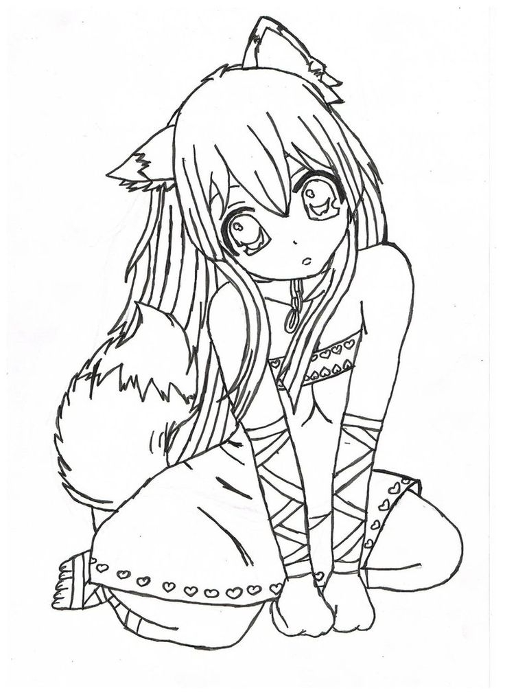 736x1012 Coloring Pages Of Anime Characters Girls Free