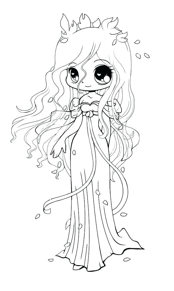 600x1002 Emo Girl Coloring Pages Drawn Anime 7