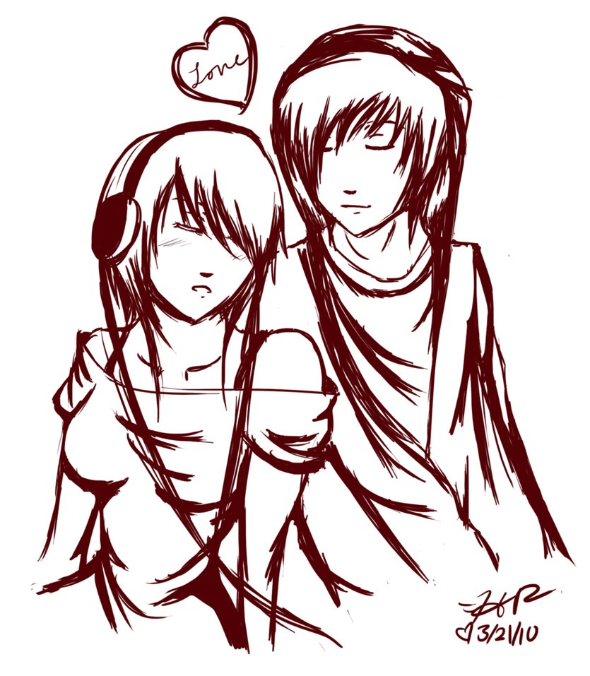 835x957 Emo Couple By Strawberry Eater