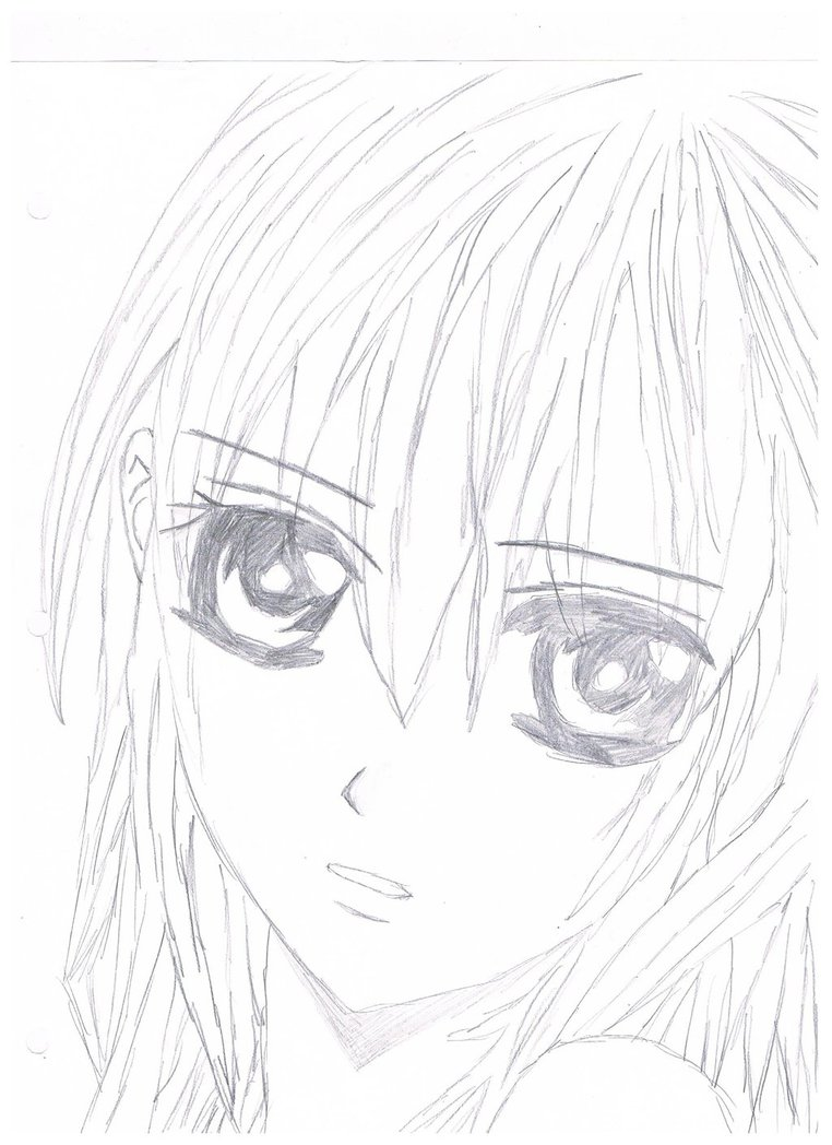 762x1048 Anime Girl Sketch By The Emo Chick