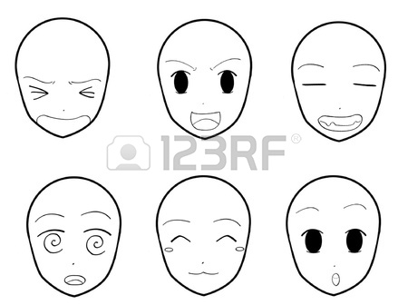 450x336 Anime Facial Expressions 05 Royalty Free Cliparts, Vectors,