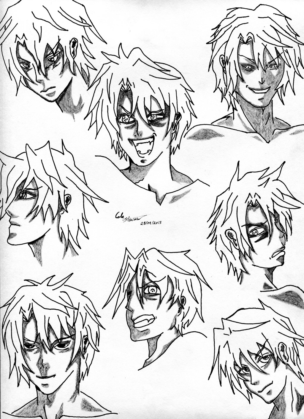 1024x1410 Male Manga Expressions,views,and Angles By Stu7189