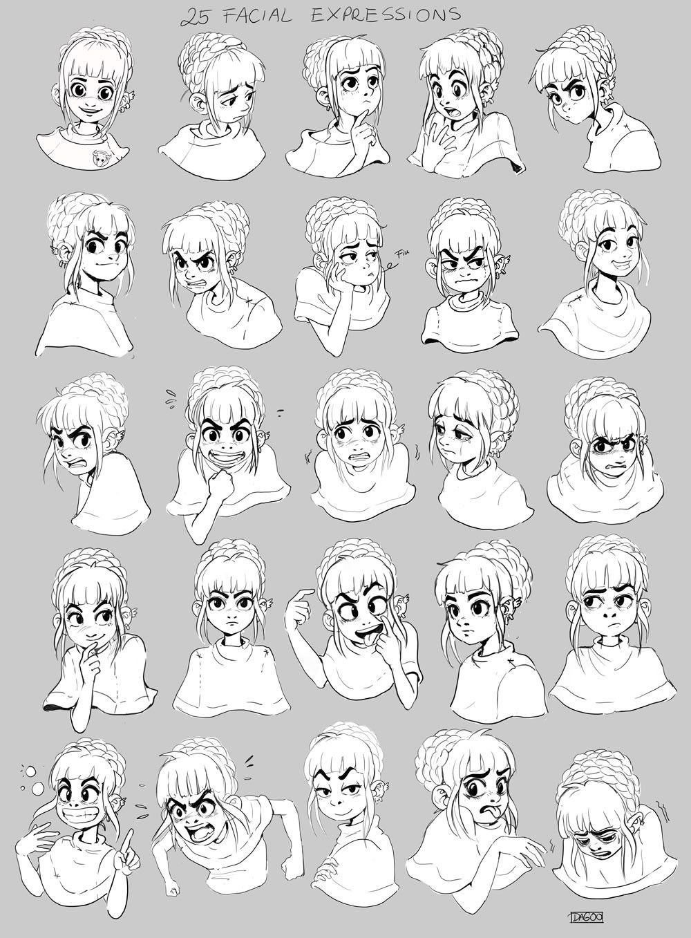 1000x1357 25 Facial Expressions , Dagmara Darsicka On Artstation