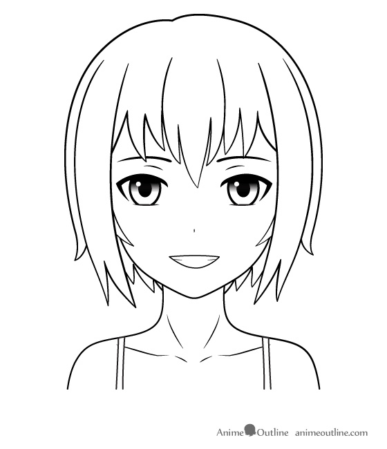 560x650 Pictures Anime Outline Drawings,