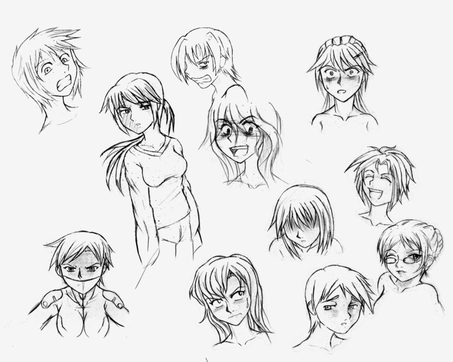 900x720 Anime Expressions Part 1 By Darkeclipsec