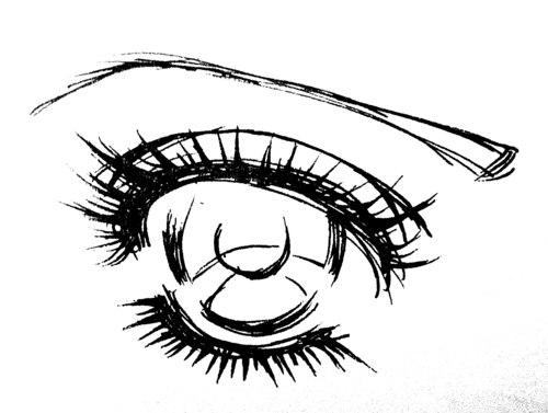 Contour Line Drawing Eye : Anime eye drawing at getdrawings.com free for personal use