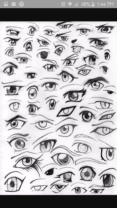 Anime Eyes Drawing