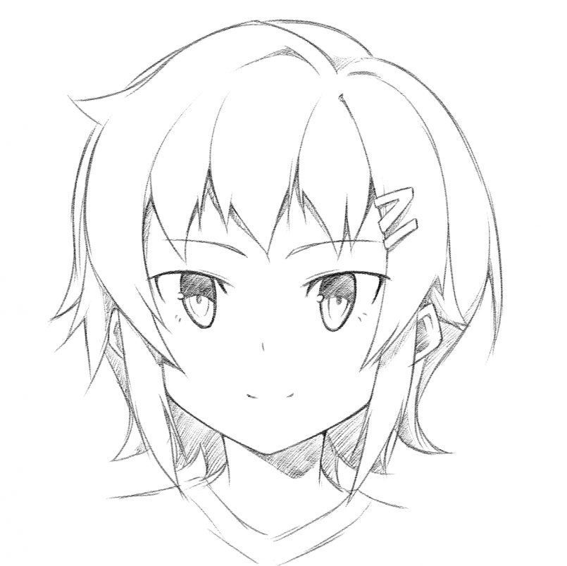 805x804 Drawing How Draw An Anime Face In Conjunction With How
