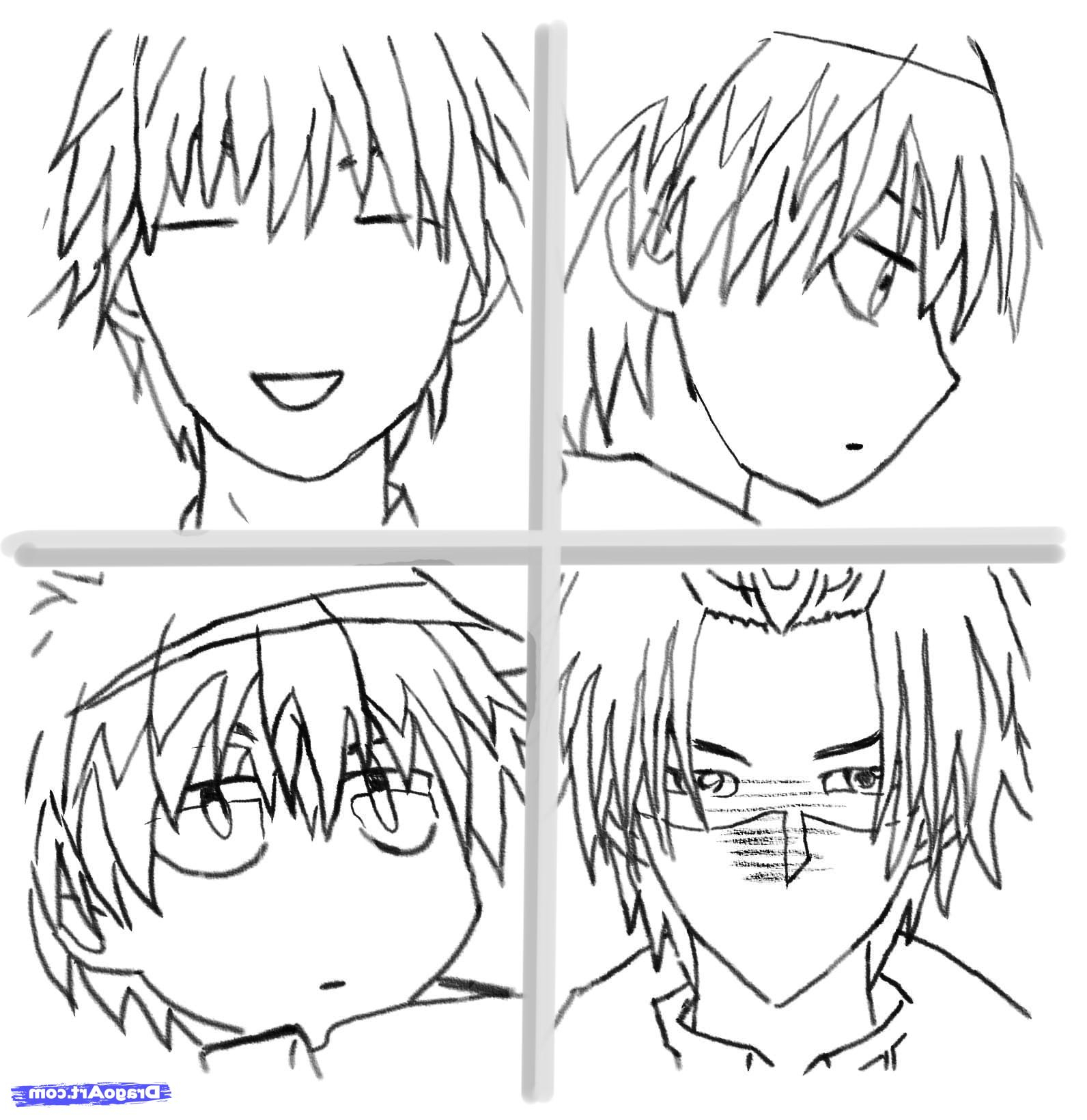 1592x1640 Easy Anime Face Sketches Easy To Draw Anime Faces How To Draw