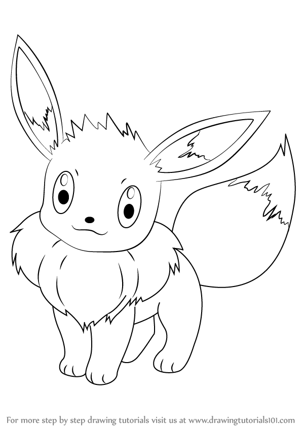 598x844 Learn How To Draw Eevee From Pokemon (Pokemon) Step By Step