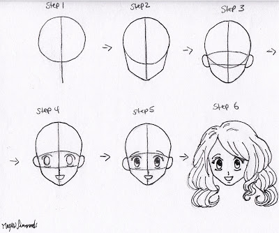 400x334 Lets Draw Something Drawing Anime Face Step By Step