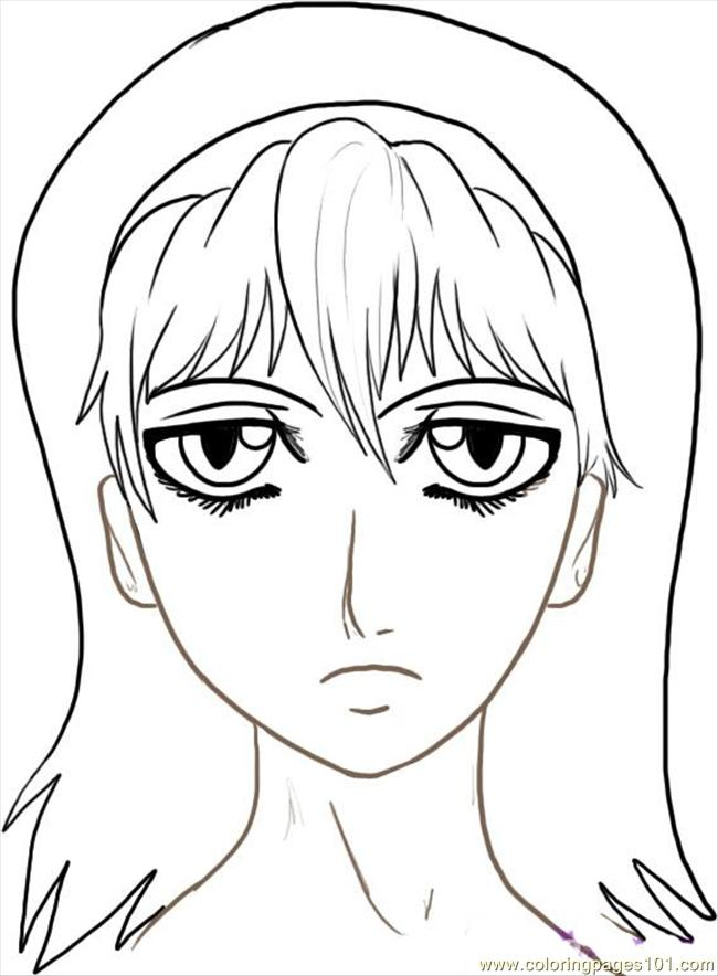 650x884 Ow To Draw Anime Faces Step 7 Coloring Page