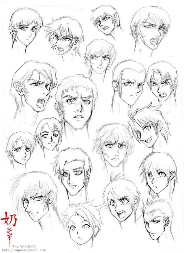 638x877 study faces and hair male by the nai on deviantart
