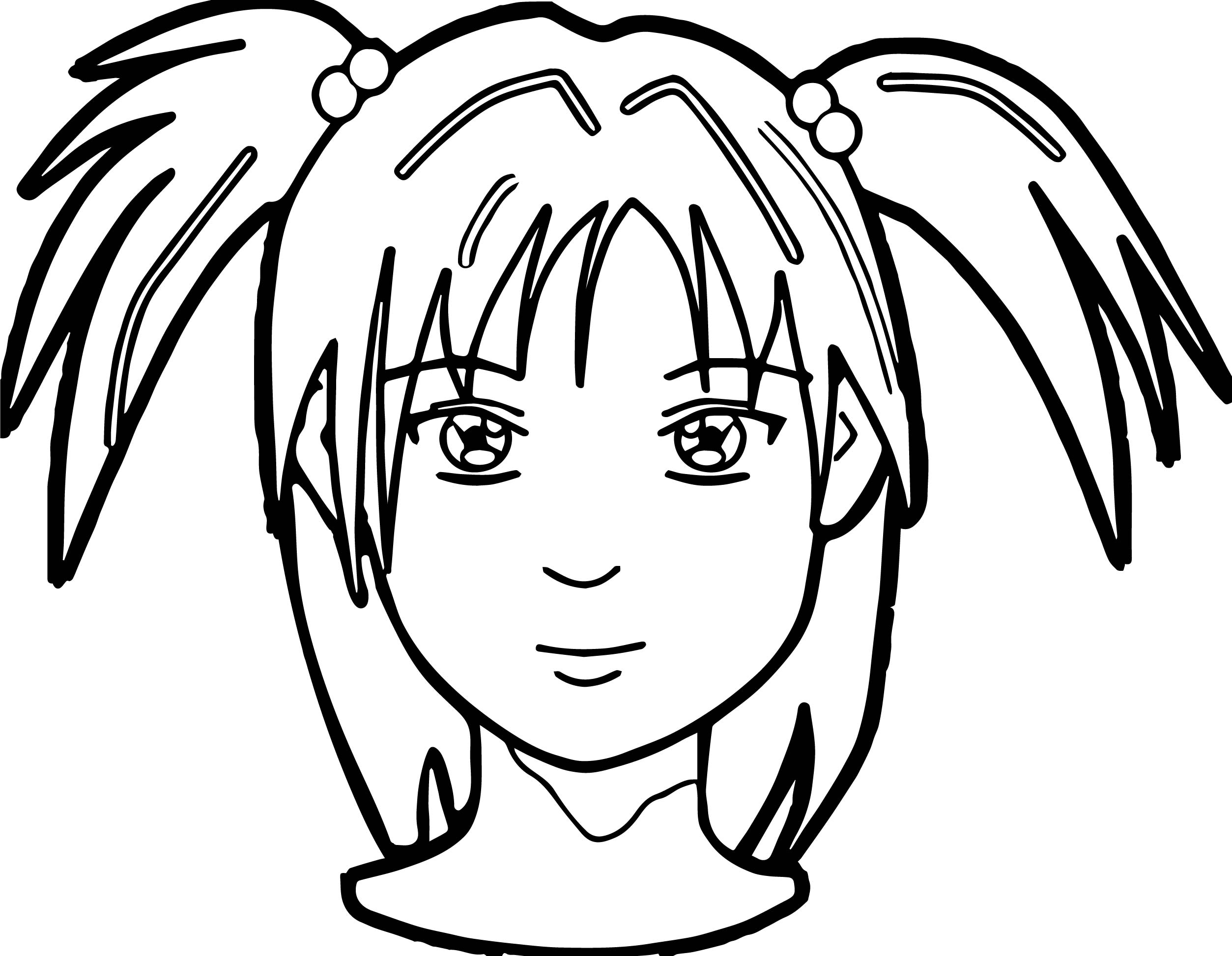 2507x1946 Anime Girl Face Coloring Page Wecoloringpage