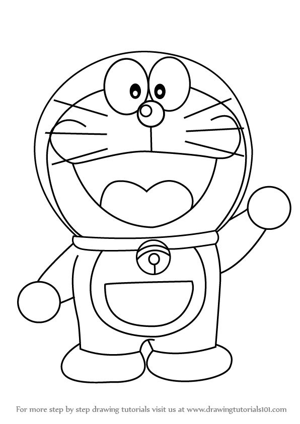 596x843 Learn How To Draw Doraemon (Doraemon) Step By Step Drawing Tutorials