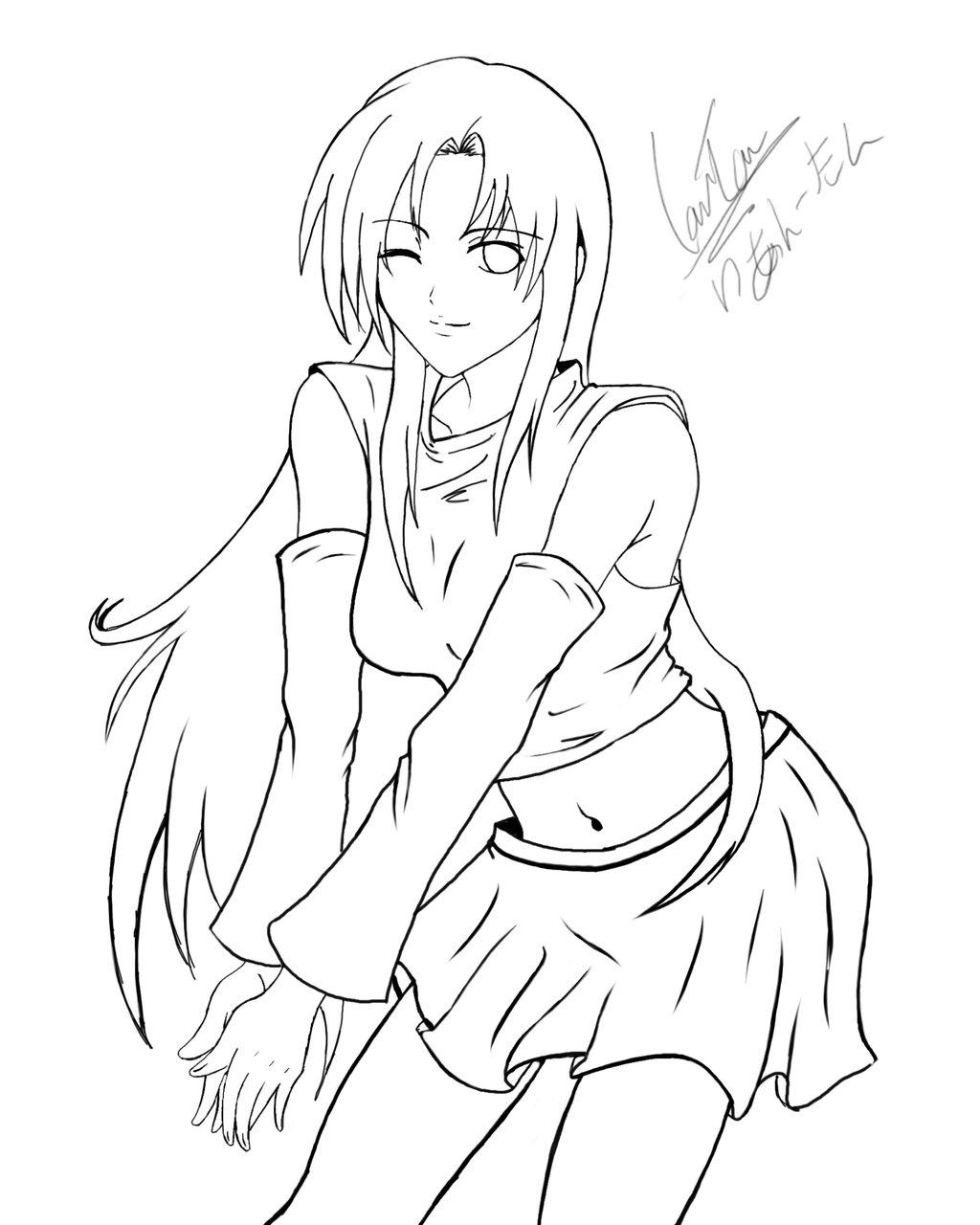 1024x1280 Anime Girl Drawing Line Art By Kusanagi91