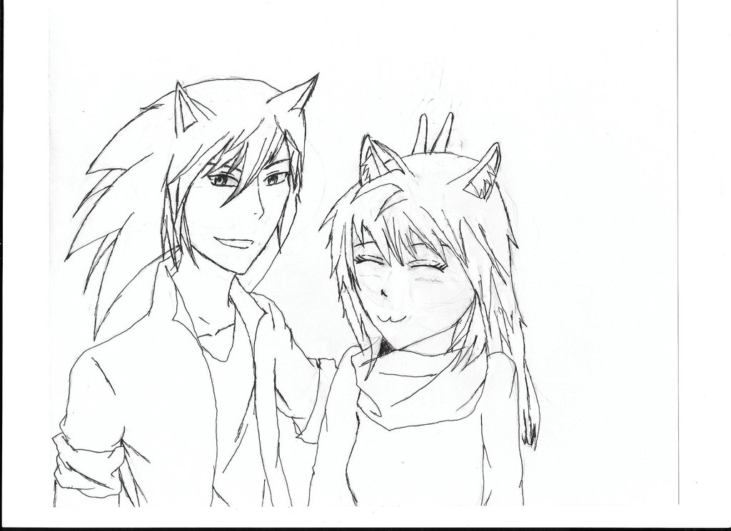 1024x745 Anime Human Sonic And Tails (Female) By Sonic Hedgehog22