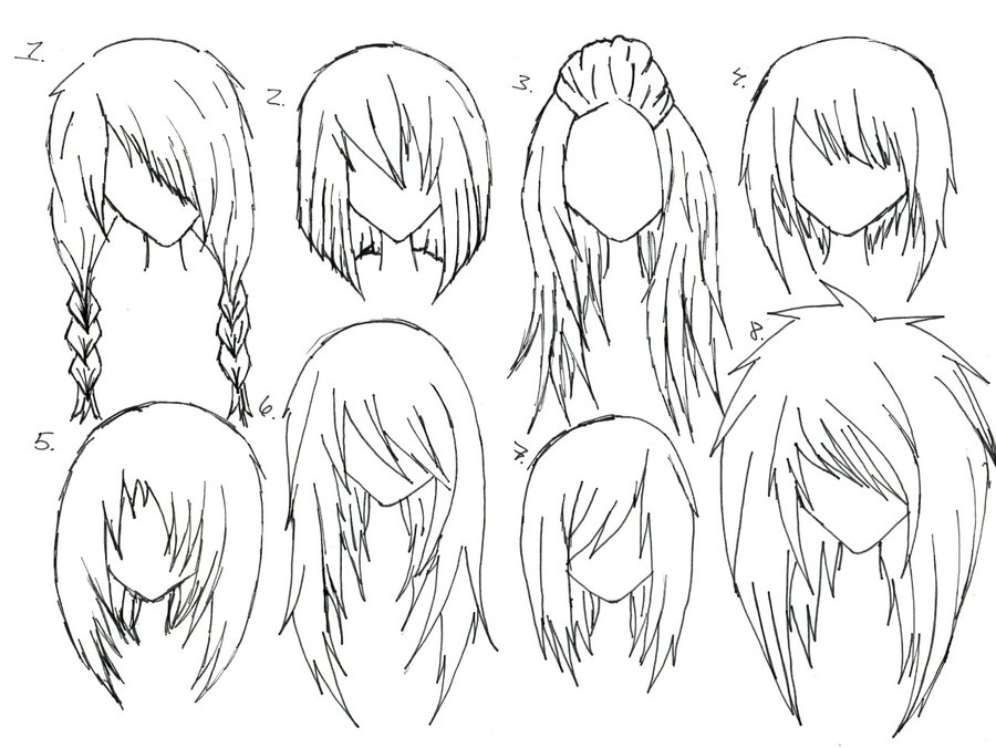 900x676 Female Anime Hair By Alicewolfnas