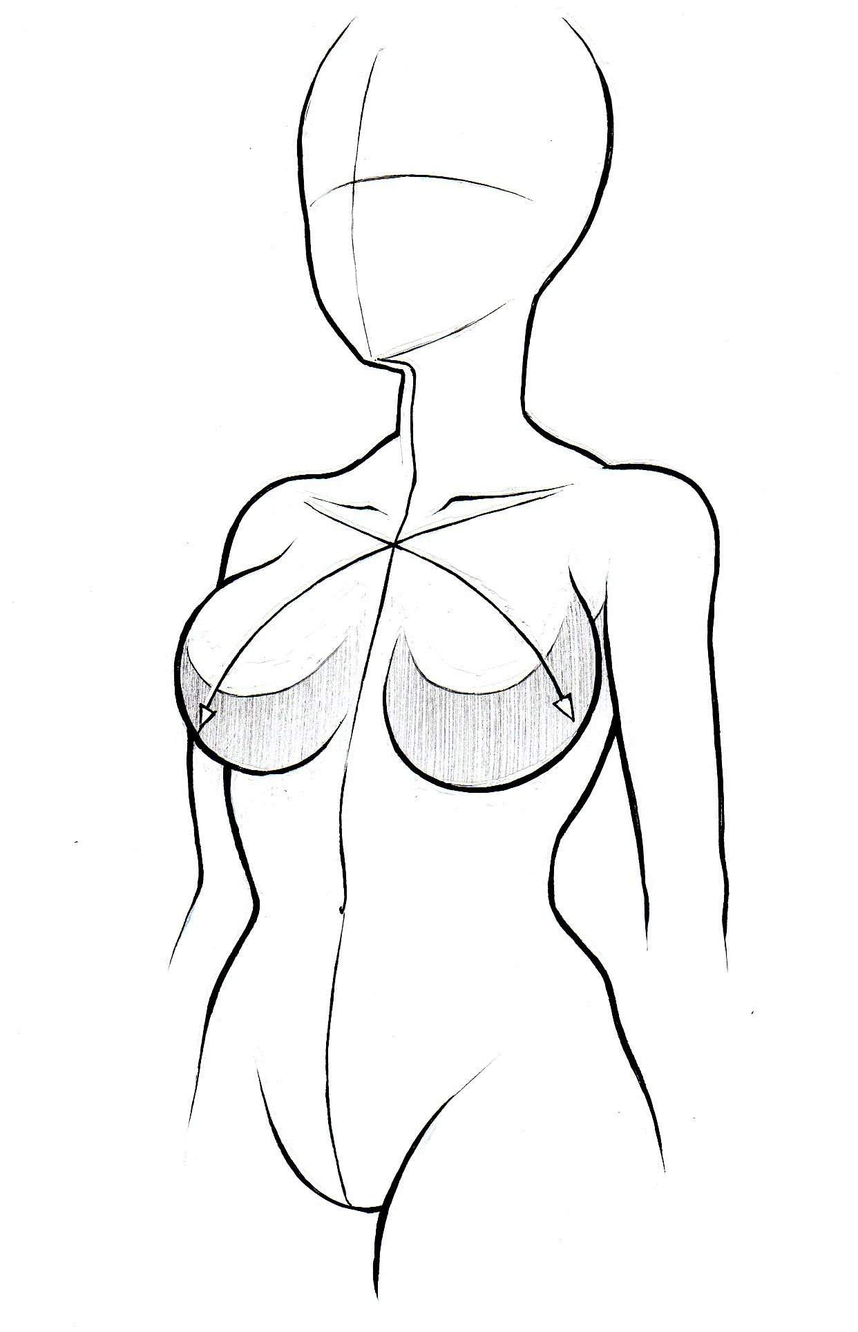 1242x1927 How To Draw Female Anime Body Drawing Anime Female Body Drawing