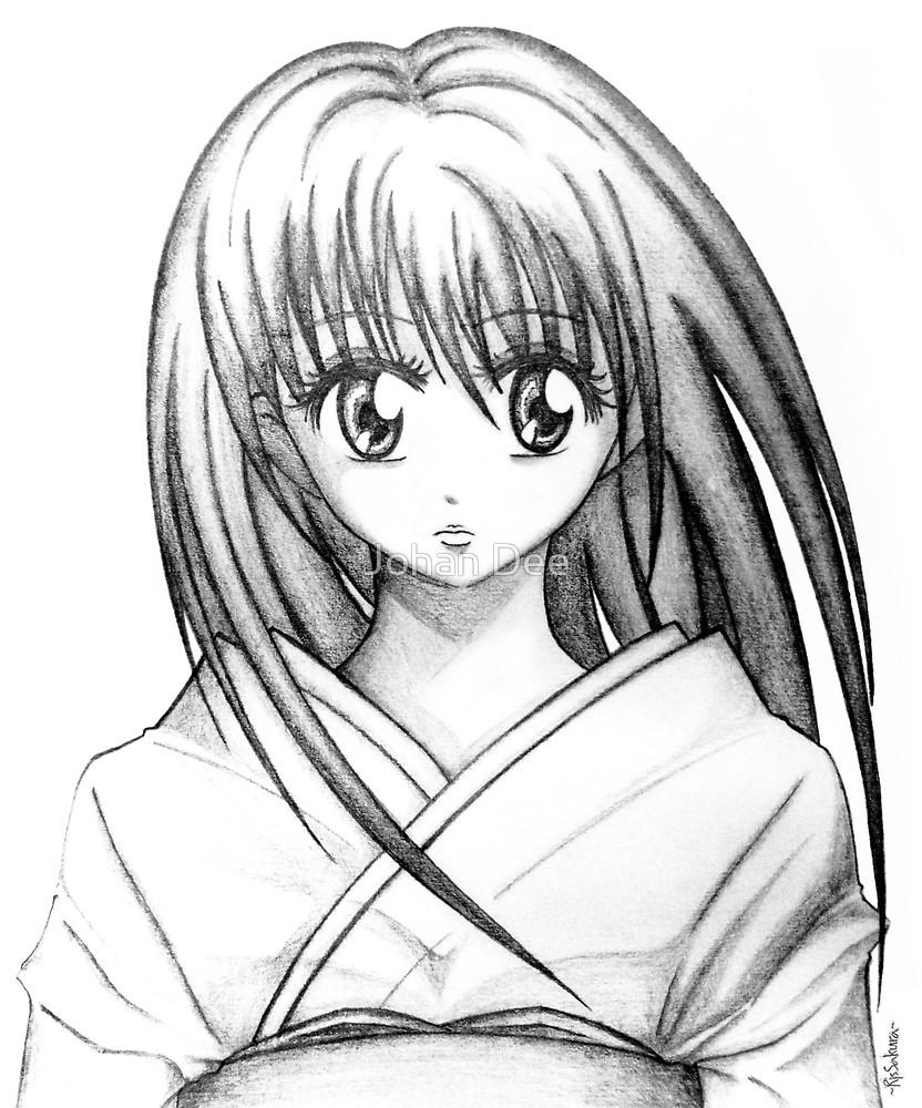 832x1000 Random Anime Girl (Pencil Drawing) By Johan Dee Redbubble