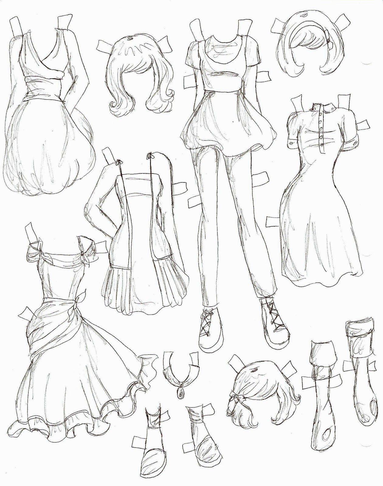 1260x1600 Anime Clothes Drawing Sketches Of Girl Outfits Manga Clothes