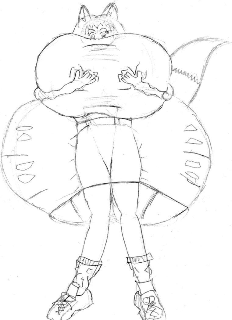 761x1049 Inflation Sketch Fox Girl By Mrfuzzyjoker