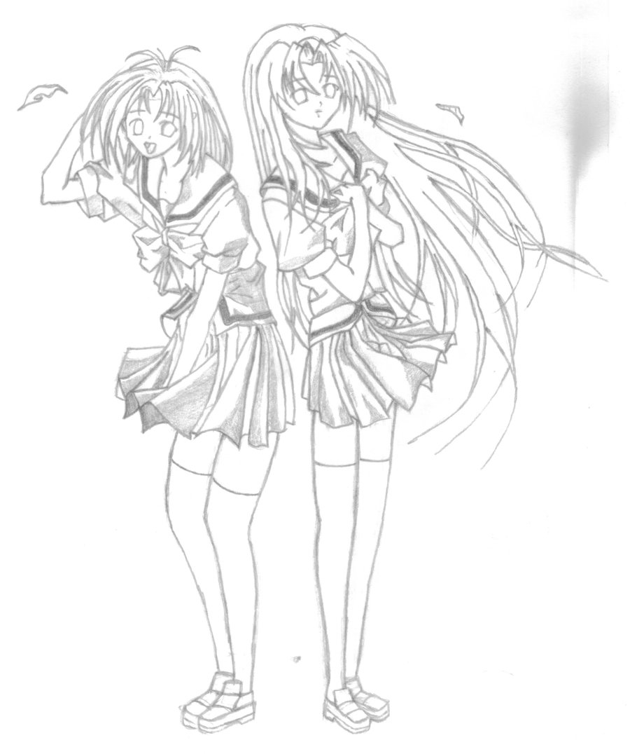 900x1076 Anime Best Friends Drawings Anime Friends Drawing