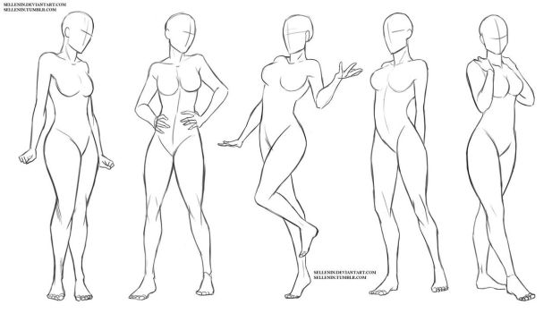 617x350 Gallery Anime Female Body Poses,